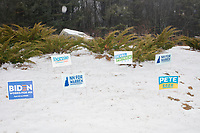 Polling place on NH primary day - Bedford NH - 11 Feb 2020