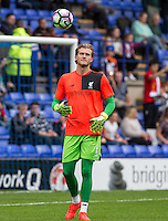 Goalkeeper Loris Karius of Liverpool during warm up during the 2016/17 Pre Season Friendly match between Tranmere Rovers and Liverpool at Prenton Park, Birkenhead, England on 8 July 2016. Photo by PRiME Media Images.