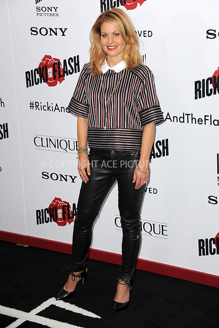 WWW.ACEPIXS.COM<br /> August 3, 2015 New York City<br /> <br /> Candace Cameron Bure attending the New York premiere of 'Ricki And The Flash' at AMC Lincoln Square Theater on August 3, 2015 in New York City.<br /> <br /> Credit: Kristin Callahan/ACE <br /> <br /> <br /> Tel: (646) 769 0430<br /> e-mail: info@acepixs.com<br /> web: http://www.acepixs.com