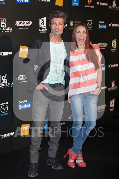 Actor Jesús Olmedo and actress Nerea Garmendia pose during Nocturna fantasy films festival photocall in Madrid, Spain. May 26, 2013. (ALTERPHOTOS/Victor Blanco)