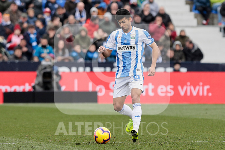 CD Leganes's Juan Francisco Moreno during La Liga match between CD Leganes and Real Betis Balompie at Butarque Stadium in Madrid, Spain. February 10, 2019. (ALTERPHOTOS/A. Perez Meca)