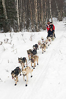 Paul Gebhardt w/Iditarider on Trail 2005 Iditarod Ceremonial Start near Campbell Airstrip Alaska SC