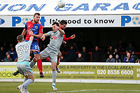 Michael Cheek of Dagenham goes close with a header during Dagenham & Redbridge vs Hartlepool United, Vanarama National League Football at the Chigwell Construction Stadium on 6th January 2018
