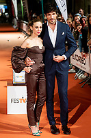 Actress Marta Hazas and Andres Velencoso attends to orange carpet of 'Velvet' during FestVal in Vitoria, Spain. September 04, 2018.(ALTERPHOTOS/Borja B.Hojas) /NortePhoto.com NORTEPHOTOMEXICO