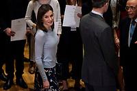 King Felipe VI of Spain and Queen Letizia of Spain delivers 'La Caixa' Scholarships at Caixa Forum in Madrid, Spain. April 10, 2018. (ALTERPHOTOS/Borja B.Hojas) /NortePhoto.com NORTEPHOTOMEXICO