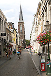 Sint Martinuskerk, Saint Martin church,  historic street in Wyck area, Maastricht, Limburg province, Netherlands