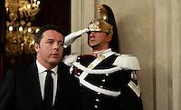 20140217 ROMA-POLITICA: RENZI AL QUIRINALE PER RICEVERE L'INCARICO