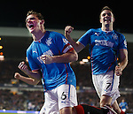 Lee McCulloch celebrates after putting Rangers ahead with Andy Little