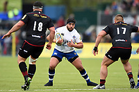 Lucas Noguera Paz of Bath Rugby in possession. Aviva Premiership match, between Saracens and Bath Rugby on April 15, 2018 at Allianz Park in London, England. Photo by: Patrick Khachfe / Onside Images
