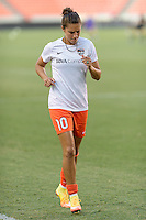Houston, TX - Saturday Sept. 03, 2016: Carli Lloyd prior to a regular season National Women's Soccer League (NWSL) match between the Houston Dash and the Orlando Pride at BBVA Compass Stadium.