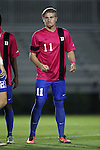 21 October 2016: Duke's Max Moser (AUT). The Duke University Blue Devils hosted the University of Notre Dame Fighting Irish at Koskinen Stadium in Durham, North Carolina in a 2016 NCAA Division I Men's Soccer match. Duke won the game 2-1 in two overtimes.