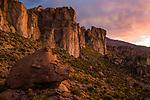 Cliffs in dry puna, Abra Granada, Andes, northwestern Argentina