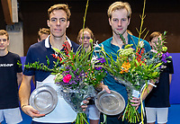 Alphen aan den Rijn, Netherlands, December 16, 2018, Tennispark Nieuwe Sloot, Ned. Loterij NK Tennis, doubles final, runners up: Scott Griekspoor (NED) (L) and Botic van de Zandschulp (NED)<br /> Photo: Tennisimages/Henk Koster