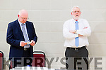 John Brassil and Martin Ferris at the Kerry General Election Count in Killarney.