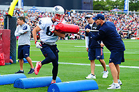 July 27, 2017: New England Patriots wide receiver Cody Hollister (81) does a footwork drill at the New England Patriots training camp held on the at Gillette Stadium, in Foxborough, Massachusetts. Eric Canha/CSM