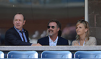 FLUSHING NY- SEPTEMBER 9: Kevin Spacey, Will Farrell and his wife are sighted watching Novak Djokovic Vs David Ferrer in the mens semi finals on Arthur Ashe Stadium at the USTA Billie Jean King National Tennis Center on September 9, 2012 in in Flushing Queens. Credit: mpi04/MediaPunch Inc. ***NO NY NEWSPAPERS*** /NortePhoto.com<br />