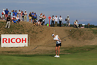 Nelly Korda (USA) on the 6th during Round 4 of the Ricoh Women's British Open at Royal Lytham &amp; St. Annes on Sunday 5th August 2018.<br /> Picture:  Thos Caffrey / Golffile<br /> <br /> All photo usage must carry mandatory copyright credit (&copy; Golffile | Thos Caffrey)