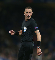 Referee Paolo Silvio Mazzoleni<br /> <br /> Photographer Rob Newell/CameraSport<br /> <br /> UEFA Europa League Group L - Chelsea v FC BATE Borisov - Thursday 25th October - Stamford Bridge - London<br />  <br /> World Copyright © 2018 CameraSport. All rights reserved. 43 Linden Ave. Countesthorpe. Leicester. England. LE8 5PG - Tel: +44 (0) 116 277 4147 - admin@camerasport.com - www.camerasport.com