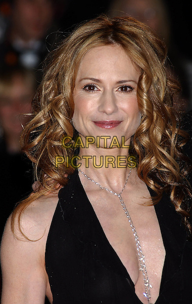 HOLLY HUNTER.Bafta Awards - British Academy Awards at Odeon Leicester Square.15 February 2004.portrait, headshot, necklace, cleavage, plunging neckline.www.capitalpictures.com.sales@capitalpictures.com.©Capital Pictures