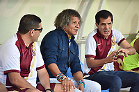 MONTERIA - COLOMBIA, 02-03-2019: Alberto Gamero técnico de Tolima gesticula durante el partido por la fecha 8 de la Liga Águila I 2019 entre Jaguares de Córdoba y Deportes Tolima jugado en el estadio Jaraguay de la ciudad de Montería. / Alberto Gamero coach of Tolima gestures during match for the date 8 as part Aguila League I 2019 between Jaguares de Cordoba and Deportes Tolima played at Jaraguay stadium in Monteria city. Photo: VizzorImage / Andres Felipe Lopez / Cont