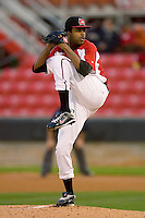 Starting pitcher Justin Mallett #41 of the Carolina Mudcats in action versus the Jacksonville Suns at Five County Stadium May 18, 2009 in Zebulon, North Carolina. (Photo by Brian Westerholt / Four Seam Images)