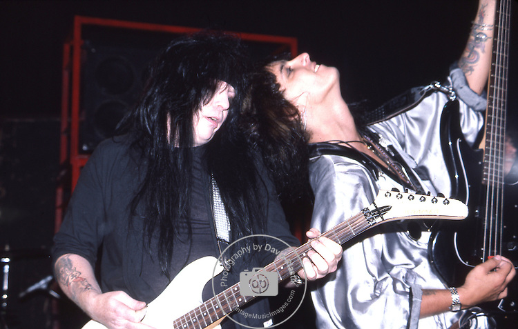 Mick Mars & Nikki Sixx odf Motley Crue   at The Roxy in Hollywood Aug 1986.