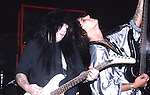 Mick Mars & Nikki Sixx odf Motley Crue   at The Roxy in Hollywood Aug 1986.