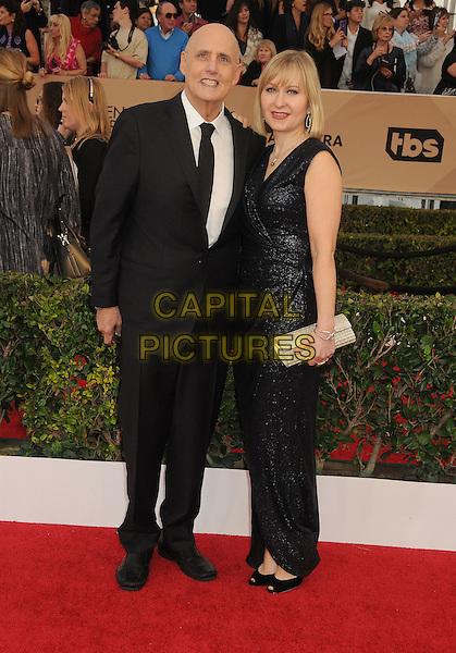 30 January 2016 - Los Angeles, California - Jeffrey Tambor, Kasia Ostlun. 22nd Annual Screen Actors Guild Awards held at The Shrine Auditorium.      <br /> CAP/ADM/BP<br /> &copy;BP/ADM/Capital Pictures