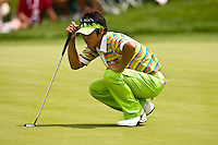 March 27, 2009, Arnold Palmer Invitational * Second Round*.  Ryo Ishikawa, 17 year old golfer from Japan lines up a putt on the 8th green during second round play  at Bay Hill Golf Club in Orlando, Florida...