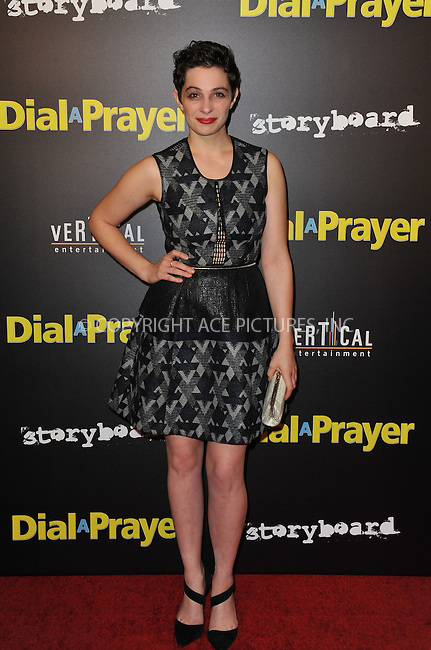 WWW.ACEPIXS.COM<br /> <br /> April 7, 2015, LA<br /> <br /> Maisie Klompus arriving at the 'Dial A Prayer' premiere at the Landmark Theater on April 7, 2015 in Los Angeles, California.<br /> <br /> By Line: Peter West/ACE Pictures<br /> <br /> <br /> ACE Pictures, Inc.<br /> tel: 646 769 0430<br /> Email: info@acepixs.com<br /> www.acepixs.com