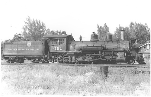 K-27 #461 in Montrose yard.<br /> D&amp;RGW  Montrose, CO  Taken by Moody, L. W. - 1939