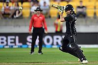 Blackcaps batsman Mitchell Santner in action while batting during the Third ODI game between Black Caps v England, Westpac Stadium, Wellington, Saturday 03rd March 2018. Copyright Photo: Raghavan Venugopal / © www.Photosport.nz 2018
