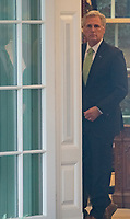 United States House Minority Leader Kevin McCarthy (Republican of California) looks out from the Oval Office prior to US President Donald J. Trump making a statement following his meeting with Democratic leaders in the Situation Room of the White House in Washington, DC in an effort to break the political impasse on border security and reopen the federal government on Friday, January 4, 2018.  The President also took questions from reporters. Photo Credit: Ron Sachs/CNP/AdMedia