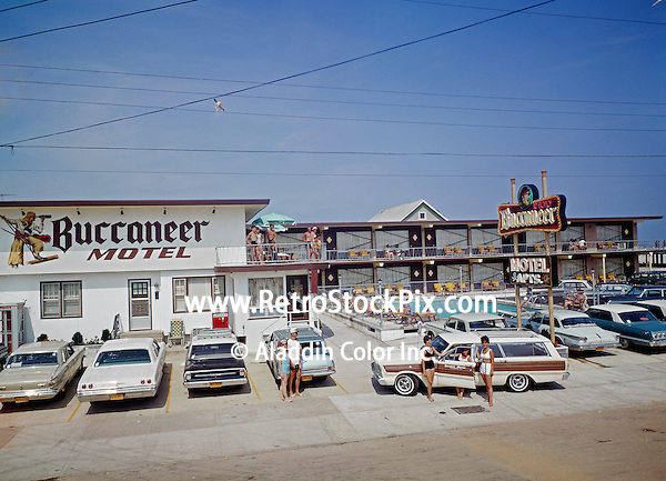 Buccaneer Motel,North Wildwood NJ, 1960's Exterior.