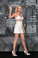 BERLIN, ALEMANHA, 17.07.2017 - PREMIERE-BERLIN - Charlize Theron durante premiere de Atomic Blonde em Berlin na Alemanha ontem segunda-feira, 17. (Foto: Timm/Brazil Photo Press)