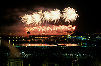 May 1992 File Photo - Montreal (Qc) CANADA - Ceremonies of Montreal 350th anniversary ;  fireworks