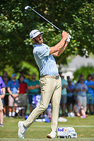 Dustin Johnson (USA) watches his tee shot on 11 during round 2 of the WGC FedEx St. Jude Invitational, TPC Southwind, Memphis, Tennessee, USA. 7/26/2019.<br /> Picture Ken Murray / Golffile.ie<br /> <br /> All photo usage must carry mandatory copyright credit (© Golffile | Ken Murray)