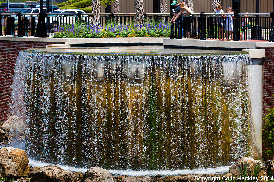 The Cascades Fountain was built near the site of the original waterfall that once provided water to residents of early Tallahassee.<br /> <br /> COLIN HACKLEY PHOTO