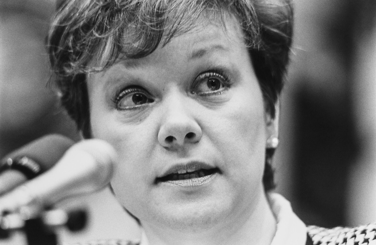 Rep. Jill Long Thompson, D-Ind. in Feb., 1991. (Photo by Maureen Keating/CQ Roll Call)