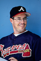 Greg Maddux of the Atlanta Braves participates in a Major League Baseball game at Dodger Stadium during the 1998 season in Los Angeles, California. (Larry Goren/Four Seam Images)