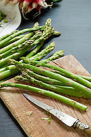 Asparagus waiting to be prepared for a light spring lunch