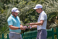 Zander Lombard (RSA) and Ross Fisher (ENG) during the 1st round of the Alfred Dunhill Championship, Leopard Creek Golf Club, Malelane, South Africa. 28/11/2019<br /> Picture: Golffile | Shannon Naidoo<br /> <br /> <br /> All photo usage must carry mandatory copyright credit (© Golffile | Shannon Naidoo)