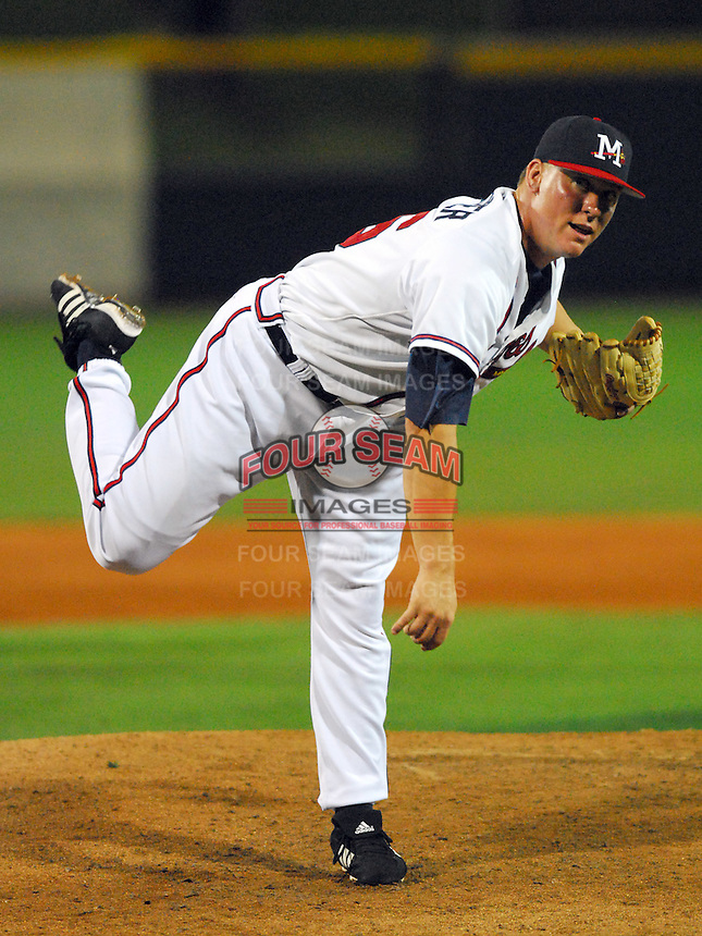 09 July 2007: Zach Schreiber from the 2007 Southern League All-Star Game sponsored by the Mississippi Braves, the Atlanta Braves' Class AA affiliate in Pearl, Miss.