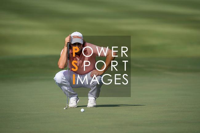 Peter Uihlein of USA ponders his next move during the 58th UBS Hong Kong Golf Open as part of the European Tour on 11 December 2016, at the Hong Kong Golf Club, Fanling, Hong Kong, China. Photo by Marcio Rodrigo Machado / Power Sport Images