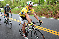 Race leader Floyd Landis, of Phonak Hearing Systems, rides with the peloton during Stage 5 of the Ford Tour de Georgia on Saturday, April 22, 2006. Tom Danielson, of the Discovery Channel Pro Cycling Team, won the 94.5-mile (152.1-km) stage from Blairsville to the top of Brasstown Bald, the highest point in the state. Landis finished second and retained the race lead.<br />