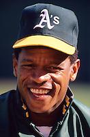 Baseball: Oakland Athletics Rickey Henderson. Oakland, CA 6/18/1990 MANDATORY CREDIT: Brad Mangin/Sports Illustrated