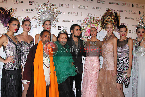 Sue Wong, Dave Navarro, Katie Cleary<br /> at Sue Wong's 'Fairies and Sirens' Fashion Show at L.A. Fashion Week. The Reef, Los Angeles, CA 10-15-14<br /> David Edwards/Dailyceleb.com 818-249-4998