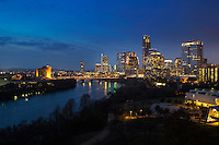New Austin Skyline looking westward over Lady Bird Lake.