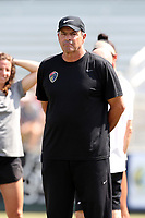 Cary, North Carolina  - Saturday August 19, 2017: Bill Palladino prior to a regular season National Women's Soccer League (NWSL) match between the North Carolina Courage and the Washington Spirit at Sahlen's Stadium at WakeMed Soccer Park. North Carolina won the game 2-0.