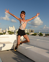 MIAMI BEACH, FL - OCTOBER 05: That Girl Lay Lay poses for a portrait during the Empire Records DJ party held at Skydeck on October 5, 2018 in Miami Beach, Florida. <br /> CAP/MPI04<br /> &copy;MPI04/Capital Pictures